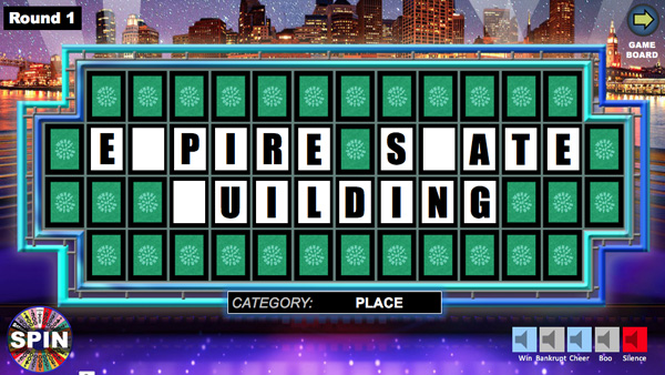 create wheel of fortune game