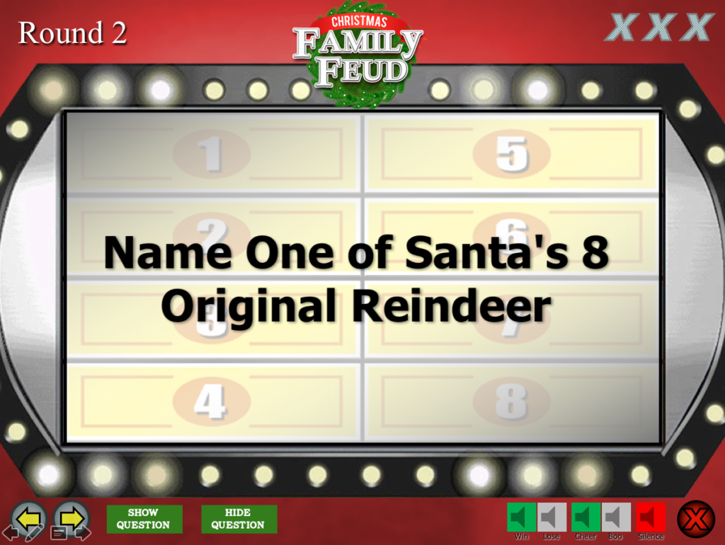 Family Feud Game Powerpoint Template Mandegarfo