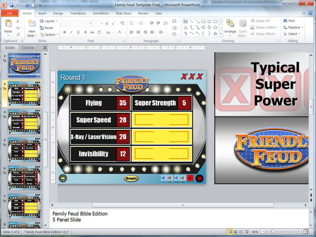 Family Feud Customizable Powerpoint Template Youth Downloadsyouth
