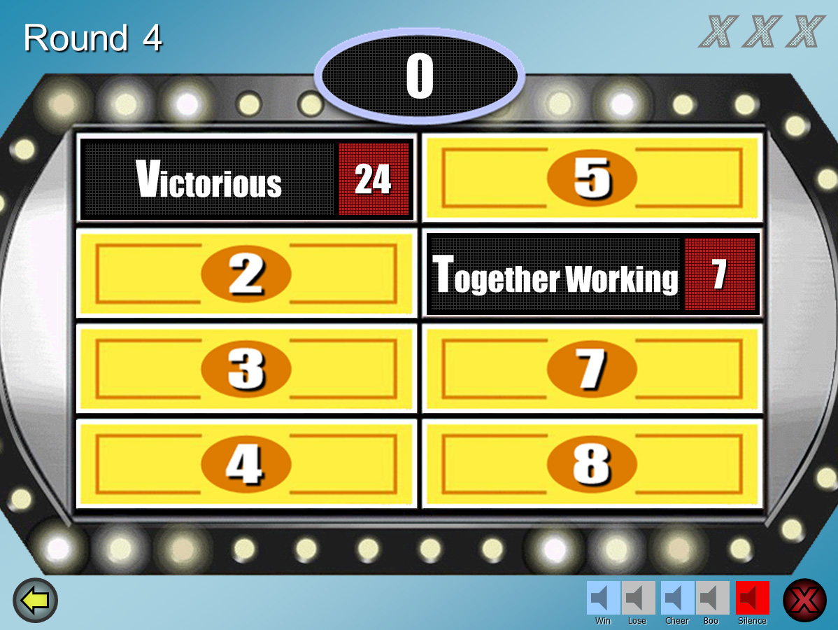 family feud customizable powerpoint template - youth, Powerpoint templates