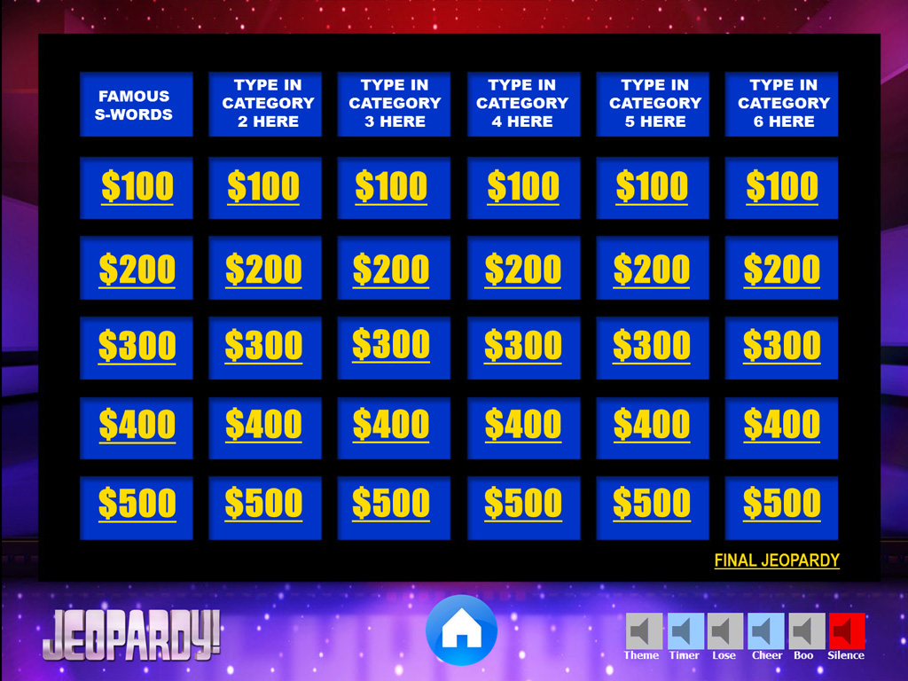 jeopardy powerpoint game template youth downloadsyouth With jeopardy template ppt with sound