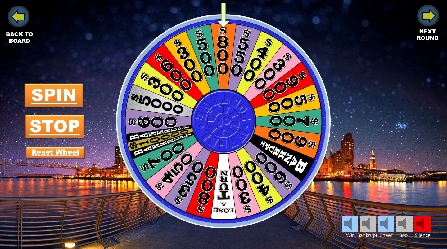 free spin wheel of fortune