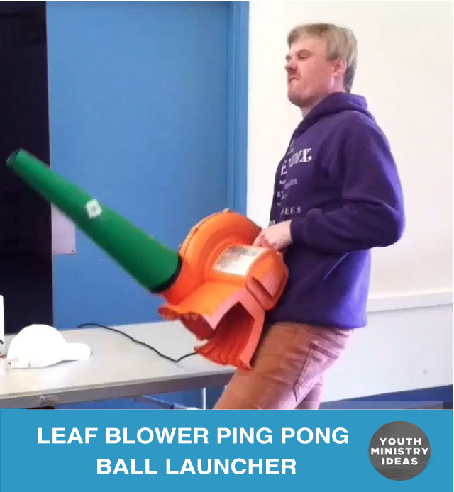 Leaf Blower Ping Pong Ball Launcher