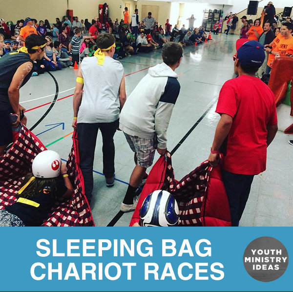 Sleeping Bag Chariot Races