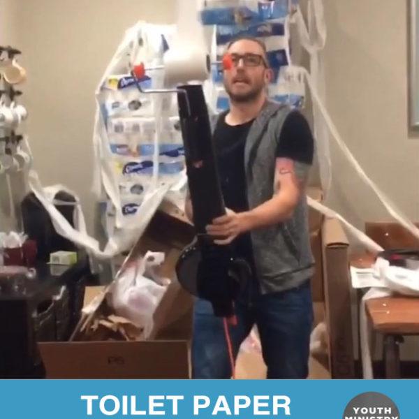 Toilet Paper Streaming Gun