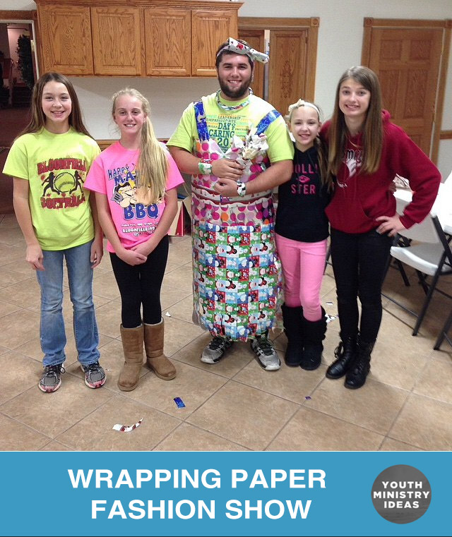 wrapping paper fashion show youth downloadsyouth downloads - Christmas Youth Group Games