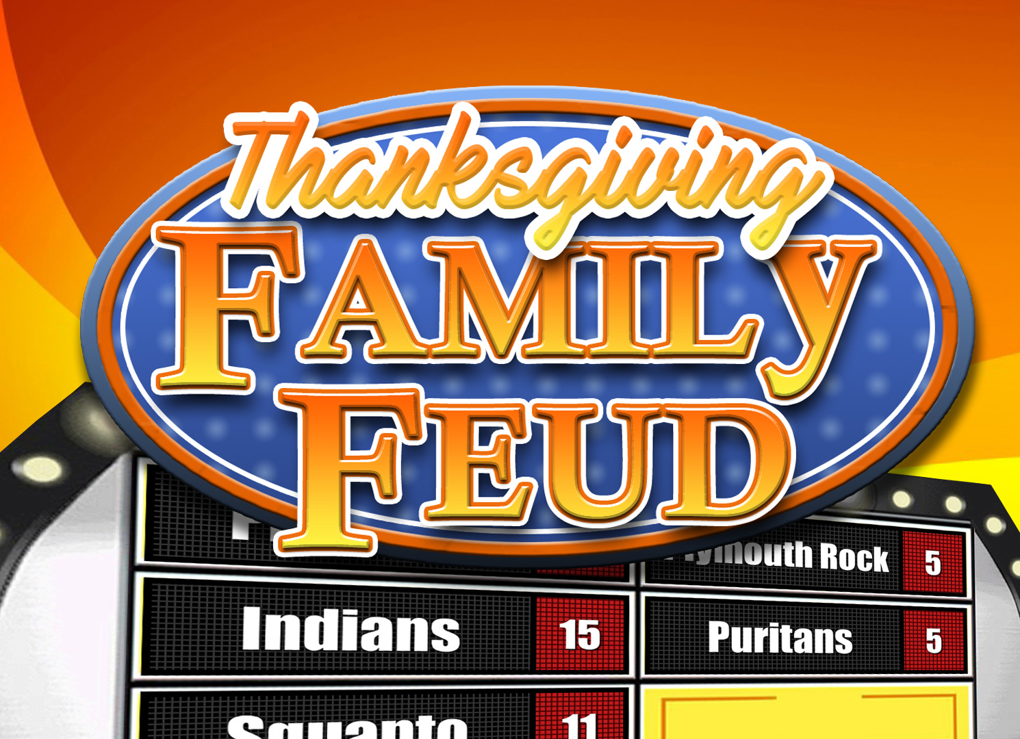 Thanksgiving Family Feud Trivia Powerpoint Game - Mac and PC Compatible