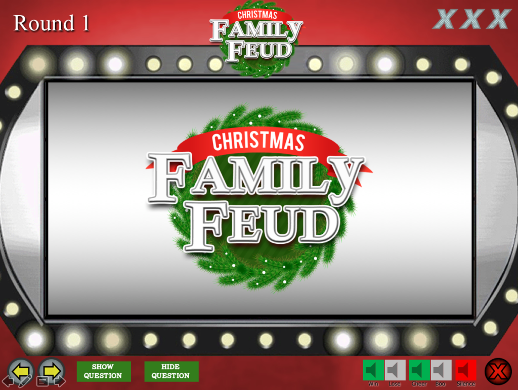 christmas family feud trivia powerpoint game - mac and pc, Powerpoint templates