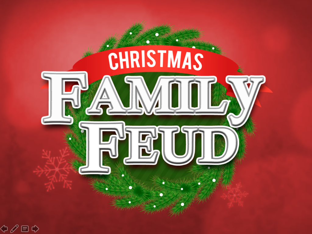 Christmas Family Feud Trivia Powerpoint Game - Mac and PC