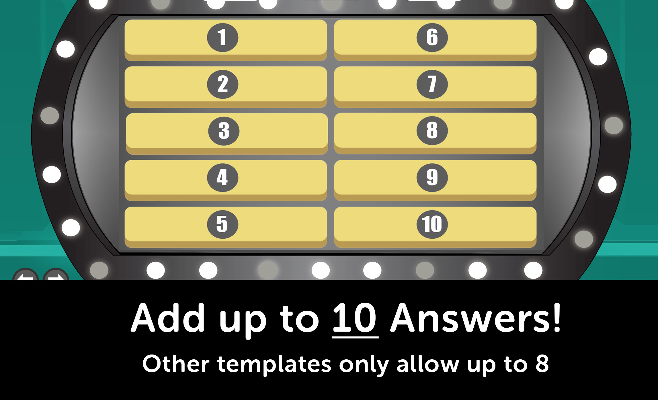 Answer Battle PowerPoint Template with Automatic Scoreboards With Family Feud Powerpoint Template Free Download