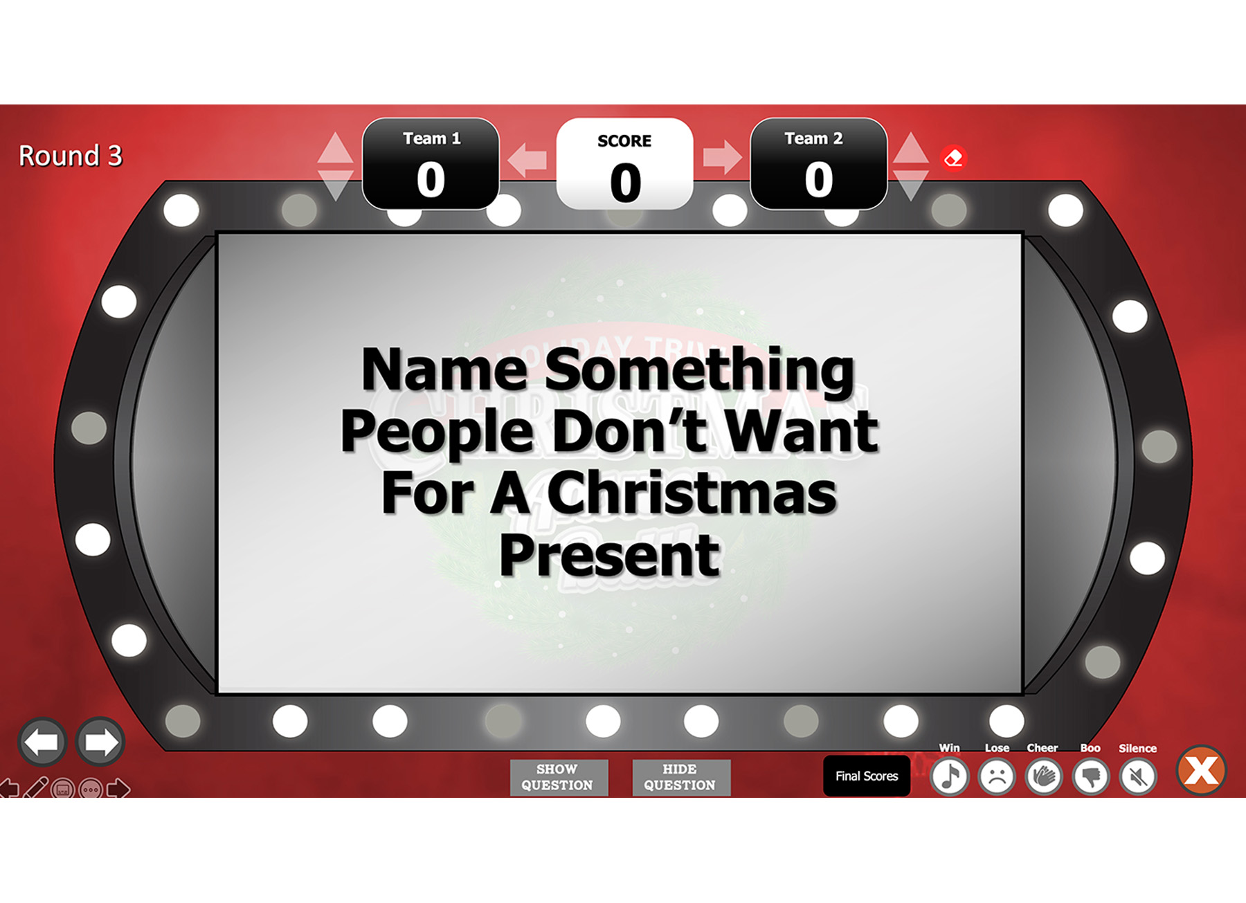 Christmas Answer Battle Powerpoint Template Family Fun Holiday Game Youth Downloads